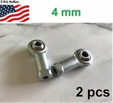2pcs 4mm Female Right Hand Thread Rod End Joint Bearing Metric SI4TK M4x0.7mm
