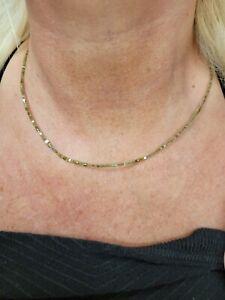 Würfelkette zart aus farbigen Diamanten mit 750 Goldverschluss 42cm. NP 750 Euro