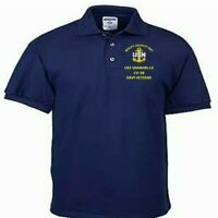 USS SHANGRI-LA  CV-38  NAVY ANCHOR  EMBROIDERED LIGHT WEIGHT POLO SHIRT