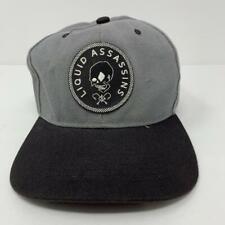 Liquid Assassins Adjustable Trucker Snapback Hat Gray Black