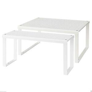 IKEA VARIERA Regaleinsatz 32x13x16 oder 32x28x16cm Küchenregal Schrankregal WEIß