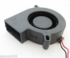 20pcs Brushless DC Cooling Blower Fan 75mm 7525 75x75x25mm 24V 2pin/2wire UK