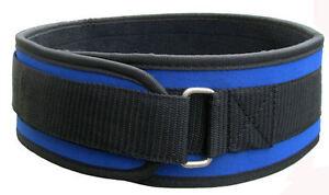 "4"" Black or BlueNylon Weight Lifting Belt, Excersize, Fitness Gym & Warehouse"