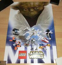 Star Wars: Lego Promo Poster - Yoda mit Fahrzeugen - selten / RARE