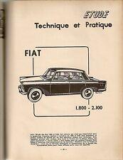 REVUE TECHNIQUE AUTOMOBILE 176 RTA 1960 FIAT 1800 FIAT 2100