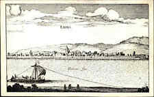 ERPEL bei Neuwied am Rhein alte Künstlerkarte Motiv Ortsansicht Merian anno 1645