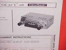 1964 TRIUMPH SPITFIRE MARK I TR4 ROADSTER AM RADIO SERVICE SHOP MANUAL BROCHURE