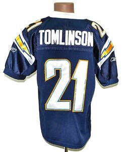 NFL SAN DIEGO CHARGERS AMERICAN FOOTBALL SHIRT REEBOK #21 TOMLINSON XL AUTHENTIC