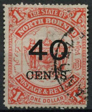 North Borneo 1895 SG#91, 40c On $1 Scarlet Used #A79959