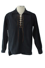 Old West Silverado Mining Co. Reenacting Skinner Shirt Black Size Medium