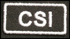 CSI Iron-On Patch/Badge Crime Scene Investigation Agent for T-shirt Hat Bag 25P