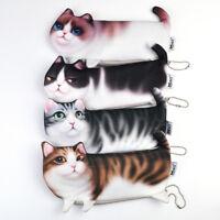 Cute Cat Pencil Case Pen Bags Makeup Cosmetic Bag Zipper Coin Pouch Purse Wallet