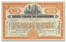Reiter-Foster Oil Corporation Stock Certificate