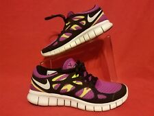 NIKE ~ FREE RUN 2 ~ BLACK AND PURPLE~ SIZE 8~ WOMENS ATHLETIC SHOES