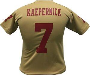 Colin Kaepernick San Francisco 49ers Gold Alt. Performance Tee (Youth Medium)