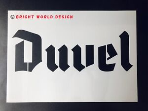 Duvel Stencil A5/A4 Stencil Beer Alcohol Logo Airbrush Sign Wall Art Reusable