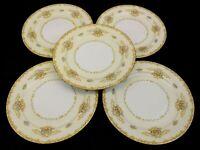 Noritake China Acacia Japan 5 Dinner Plates  1933-1942