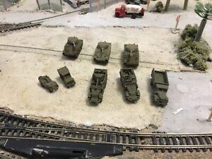 N Scale WW 2 era military army Behind Enemy Lines Bank Heist set  3 D unpainted