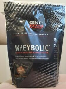 GNC AMP WHEY BOLIC ADVANCED MUSCLE PERFORMANCE CHOCOLATE FUDGE