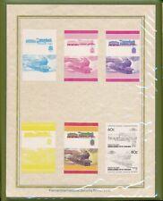 Stamp Grenadines of Saint Vincent Proof 1985 Union Island Trains MNH