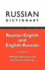 Russian Dictionary: Russian-English, English-Russian-ExLibrary