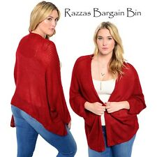 New Ladies Knitted Brick Drape Plus Size 18/1XL (9800)LG