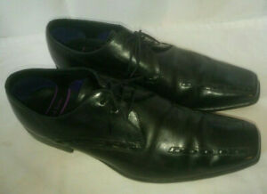 Paul Smith Mens Black Shoes Hand Crafted Leather Lace Up Size 8