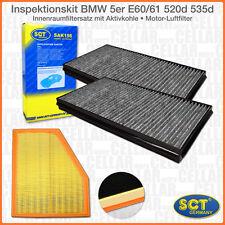 Innenraumfilter Pollenfilter + Luftfilter für BMW 5er E60 E61 Diesel | 520d 535d