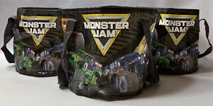 3 Monster Jam Swag Reusable Bags Grave Digger Megalodon Toro Loco Party Supplies