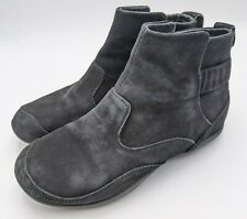 Dankso Womens 9.5-10 Black Leather Suede Colby Ankle Boots Booties Size 40