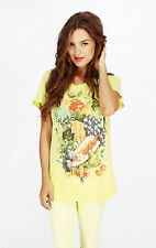 """Wildfox Couture """"Summer Diet"""" Tee, Sunlight color, Size S"""