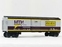 MTH 30-7423 Club Boxcar Purple Silver Yellow LN