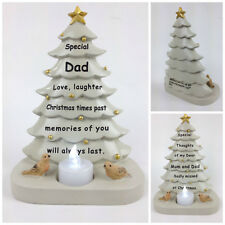 Christmas Tree With Flickering Tea Light Graveside Memorial Ornament Tribute