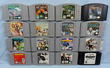 N64 Game Lot of 16 Games (South Park Rally, Hexen, Turok, Blast Corp, Star Wars)