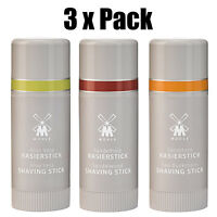 3 x Pack Muhle Shaving Soap Sticks 37g - Travel & Home Use - All Skin Types - UK
