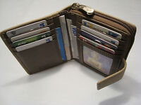 Genuine Leather Ladies Purse Wallet Compact Size Boxed Top Brand Graffiti TAUPE