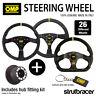 OMP Steering Wheel & Hub fits VAUXHALL CORSA D ALL inc VXR 2006-2014
