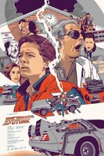 back to the future Vincent Aseo Not Mondo Not Stout Not Olly Moss Poster