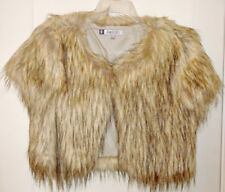Jennifer Lopez Gray Fox Faux Fur Jacket Misses Size Medium