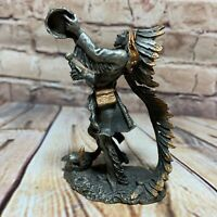 "Vintage 1992 Sitting Bull Sioux Figurine Fine Pewter Signed Jim Ponter 3.5"""