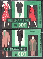POLAND 1965 Matchbox Label - Cat.Z#645/46 pair, Dress in the CDT.