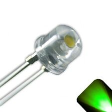 5 x LED 5mm / 4.8mm Pure Green Ultra Bright Straw Hat Wide Angle LEDs Light RC