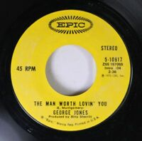 Country 45 George Jones - The Man Worth Lovin' You / A Picture Of Me (Without Yo
