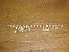 Vintage Cowboy Western Theme Charm Bracelet ~ Marked Sterling ~ Free Shipping