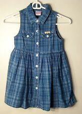 UFO Size 6X Blue Plaids Sleeveless Dress (Made in Canada)