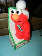 HOLIDAY ELMO PLUSH IN ORIGINAL BOX HUGGABLE SESAME STREET PAL 1996 NIB