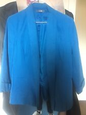 Gorgeous Turquoise Blue Blazer By South Size 14