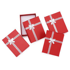 12x Red Rectangle Cardboard Pendant Necklaces Boxes Present Packing Case 9x7x3cm