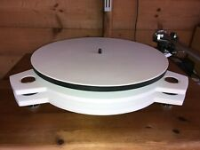 NEW SRM TECH AZURE IN PURE WHITE - SUPERB DIY TURNTABLE USING REGA PARTS!