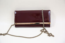 #14 JIMMY CHOO 'mILLA' Patent Leather Wallet On a Chain  RETAIL $775